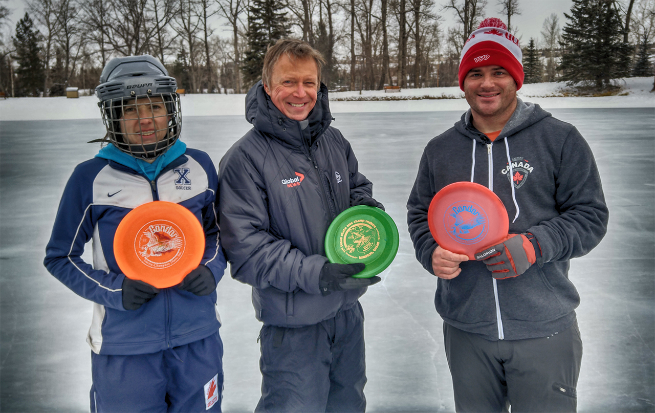Calgarians Chase World Records for 'Frisbee on Ice'
