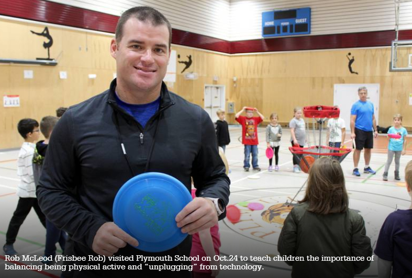 Plymouth School Students Unplug with Help From Frisbee Rob